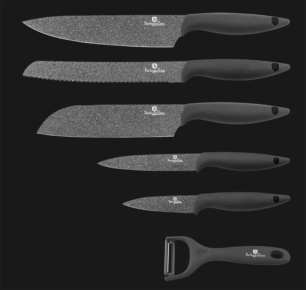 Набор ножей 6 пр. Berlinger Haus BH-2089 Granit Diamond Line