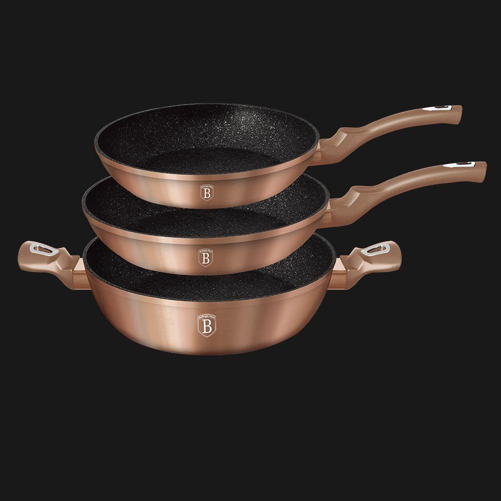Набор посуды из 3 предметов Berlinger Haus ВН-1280N Rosegold Line