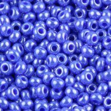 Бисер чешский 38040 голубой непрозрачный жемчужный Preciosa 1 сорт