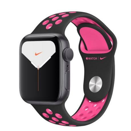 Apple Watch Nike Series 5 Space Gray Aluminum Case 44mm GPS Black/Pink Blast with Nike Sport Band