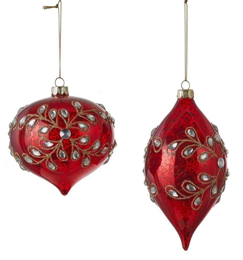 Капля/шар-луковка в ассортименте 15*10 см красный