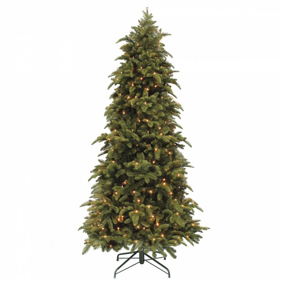 Искусственная елка Нормандия стройная 425 см с лампами темно-зеленая