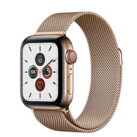 Apple Watch Series 5 Gold Stainless Steel Case 44mm GPS + Cellular Gold with Milanese Loop