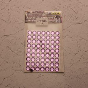 `Стразы(бусины) клеевые на листе 8*10,5см, Арт. Р-СТЛ0005-3