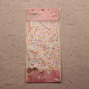 `Стразы(бусины) клеевые на листе 9,5*16см, Арт. Р-СТЛ0008-1