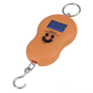 Электронный безмен с металлическим кольцом Portable, 50 кг, Оранжевый