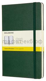 Книжка зап.Moleskine Large Classic клетка зеленый QP061К1