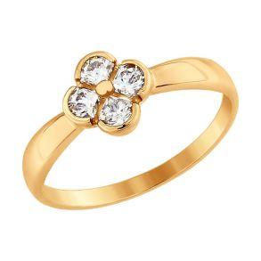 Кольцо из золота со Swarovski Zirconia 81010335 SOKOLOV