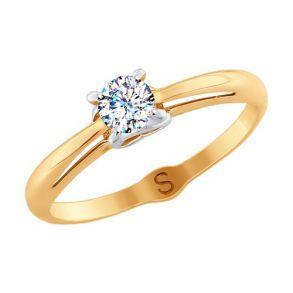 Кольцо из золота со Swarovski Zirconia 81010369 SOKOLOV