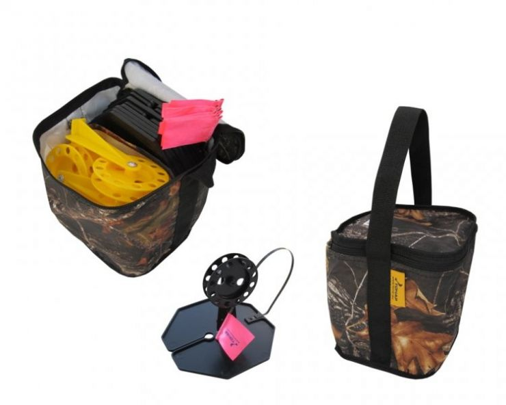Набор жерлиц в сумке ЖЗ-03 d-210мм катушка d-85мм 10 шт Тонар