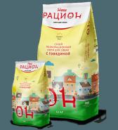 Наш Рацион Сухой корм для взрослых собак с говядиной, 15 кг