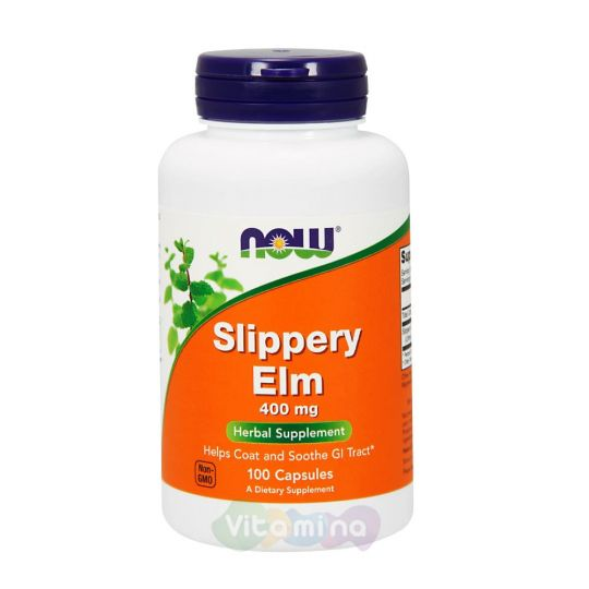 Слиппери Элм (Красный вяз) 400 мг, 100 капсул
