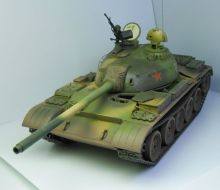 Сборная модель основной танк  Т-59  1:35