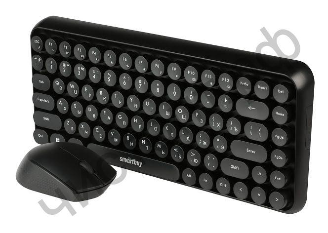 Набор (клав.+мышь) беспровод. Smartbuy 626376AG черный (SBC-626376AG-K)