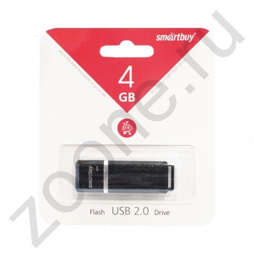 4GB USB QUARTZ черный SMARTBUY