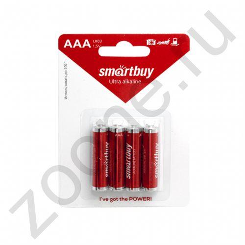 Элем.пит. LR03 AAA 4BL (SBBA-3A04B) (4/48/480) (4 ШТ) SMARTBUY
