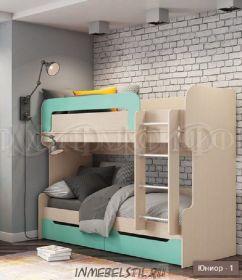 Кровать 2х ярусная Юниор-1 МДФ