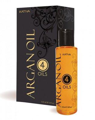 Защитный концентрат для волос восстанавливающий «4 масла» ARGAN OIL Kativa, 120 мл.