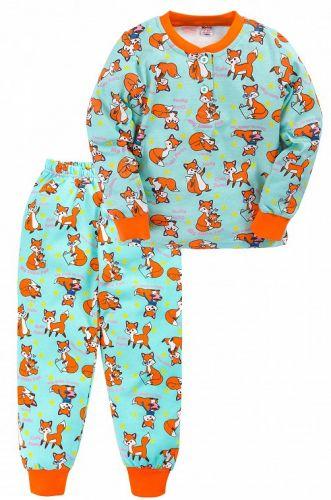 Теплая пижама для девочки 7-10 лет Bonito BN955Д ментол