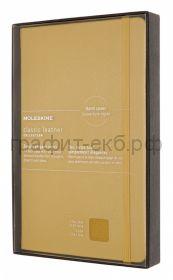 Книжка зап.Moleskine Large натур.кожа Leather линейка желтый LCLH31HM17BOX