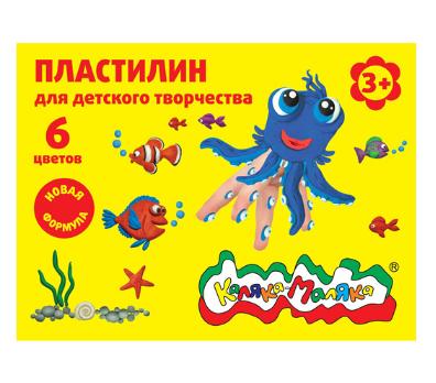 Пластилин Каляка-Маляка для детского творчества 6 цв. 90,00 г стек, 3+