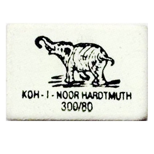 Ластик KIN  Elephant  25*18 каучук белый