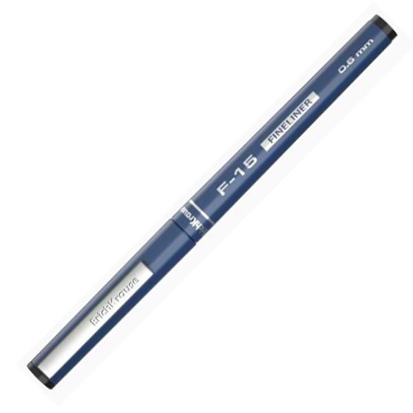 """Ручка линер """"F-15"""" черн 0,6мм/- корп син ERICH KRAUSE"""