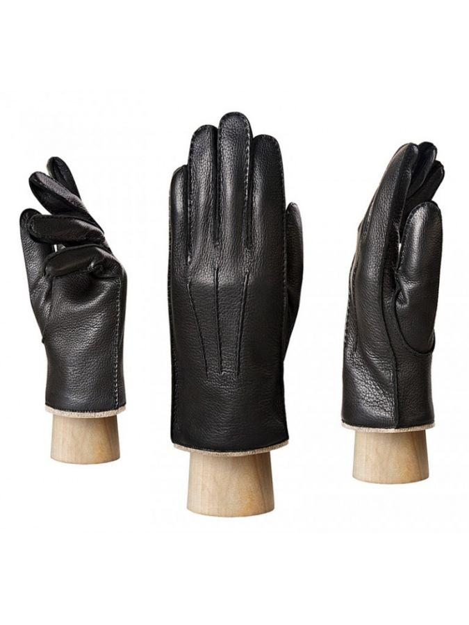 Кожаные мужские перчатки ELEGANZZA