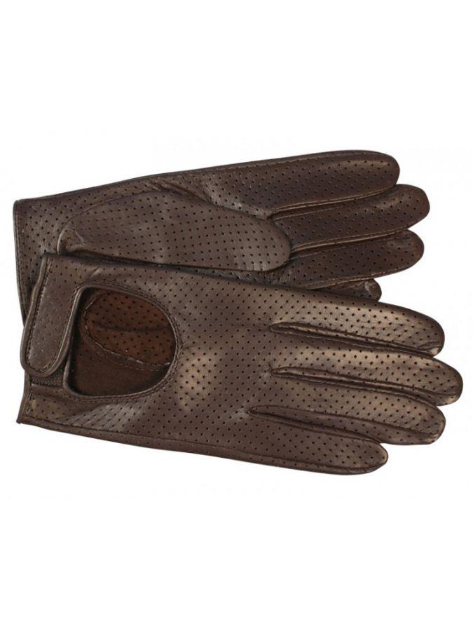 Автомобильные перчатки из натуральной кожи ELEGANZZA