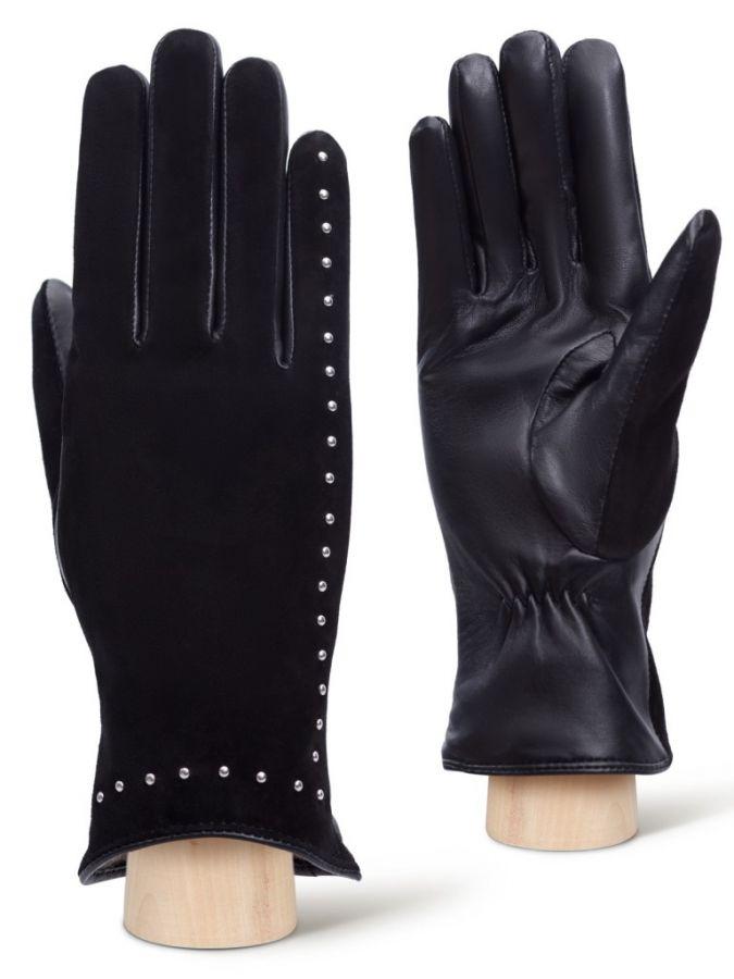 Перчатки из кожи и велюра LABBRA