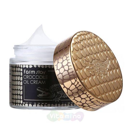 FarmStay Питательный крем с крокодильим жиром Crocodile Oil Cream, 70 мл