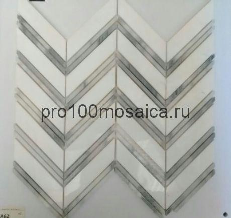 KA62 Мозаика серия Камень размер чипа 105*23 и 105*5, мм: 300*275*6 (Happy Mosaic)