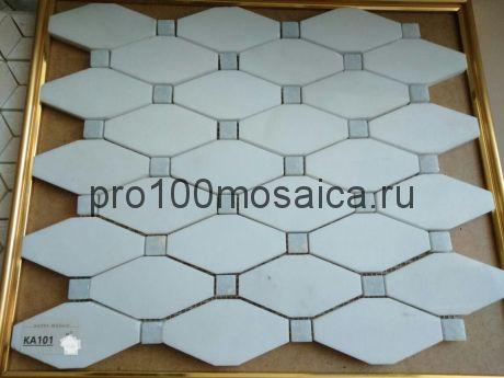 KA101 Мозаика серия Камень размер чипа 95*48 и 15*15, мм: 340*300*10 (Happy Mosaic)