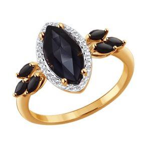 Кольцо из золота с миксом камней 714261 SOKOLOV