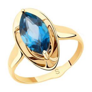 Кольцо из золота с синим топазом 715529 SOKOLOV
