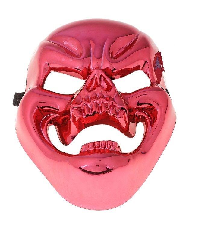 Красная маска смеющегося черепа