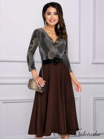 Платье Моё любимое платье (брауни, с ремешком)