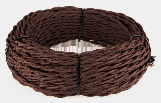 Ретро кабель витой 2х2,5 (коричневый)