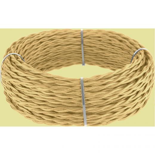 Ретро кабель витой 2х1,5 (золотой песок)