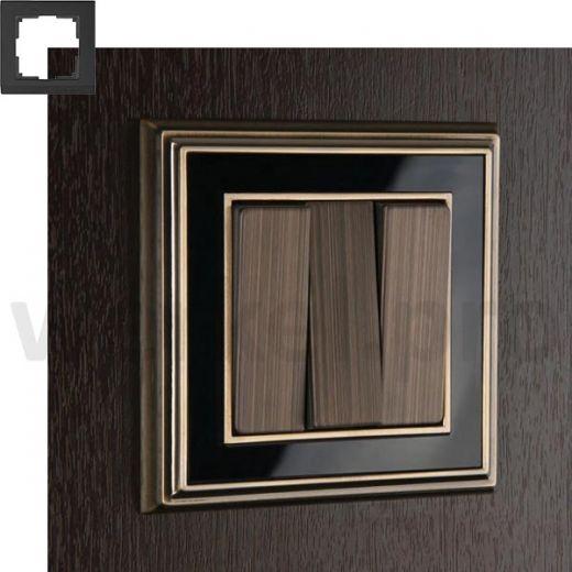 Рамка на 1 пост WL17-Frame-01 бронза / черный