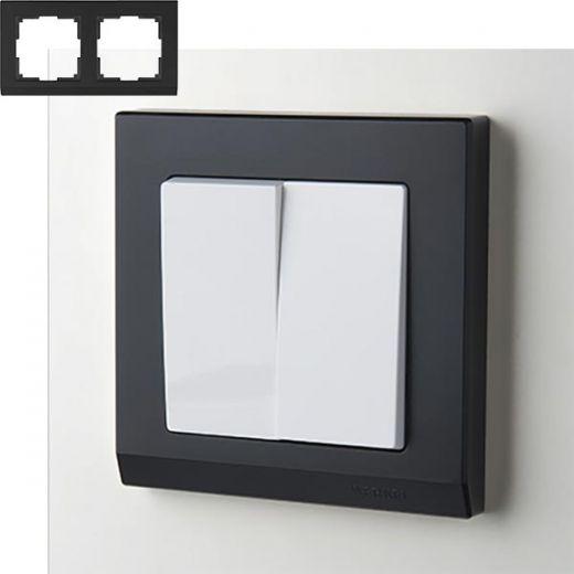 Рамка на 2 поста Werkel WL04-Frame-02 Черный