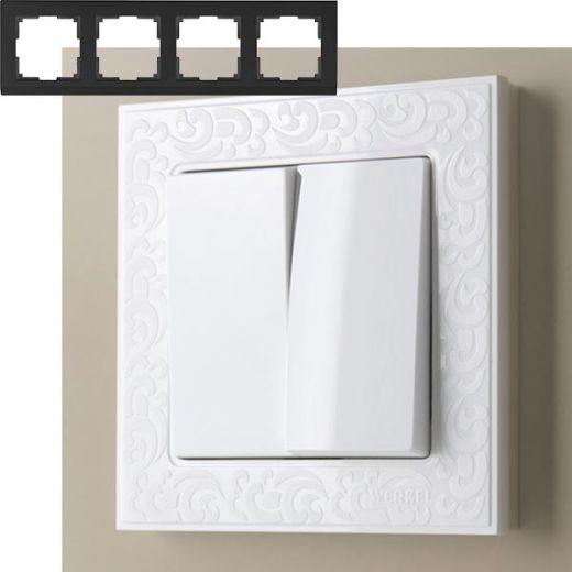 Рамка на 4 поста Werkel WL05-Frame-04 Белый