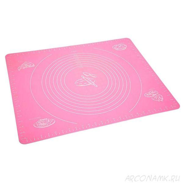 Силиконовый коврик для раскатывания теста, 30х40 см.,Цвет: Розовый