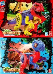 Набор из 2 конструкторов Zuanma Динозавры со звуком 043