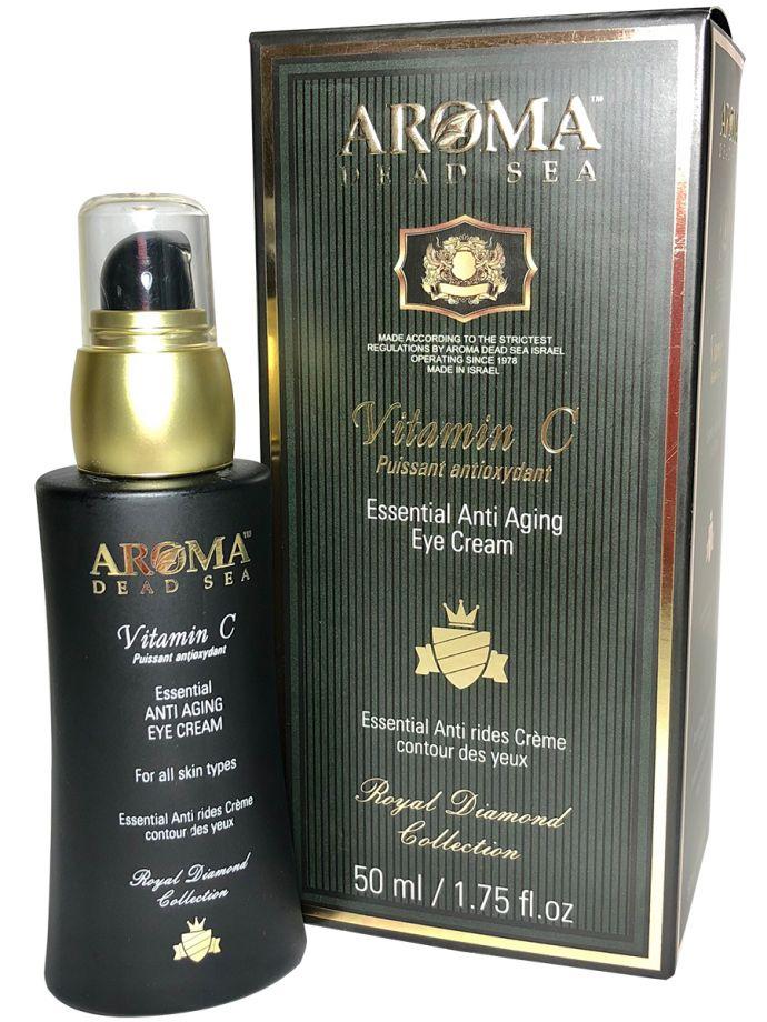 Антивозрастной крем для глаз для всех типов кожи с витамином С, Aroma Dead Sea (Арома Дэд Си) 50 мл