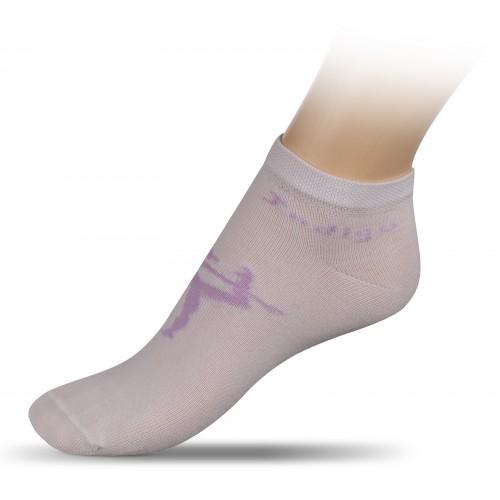 Носки для гимнастики с рисунком INDIGO А14-01 белые