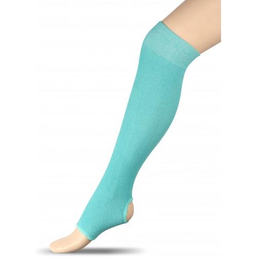 Гетры для гимнастики и танцев (хлопок) INDIGO ЛВ5 бирюзовые