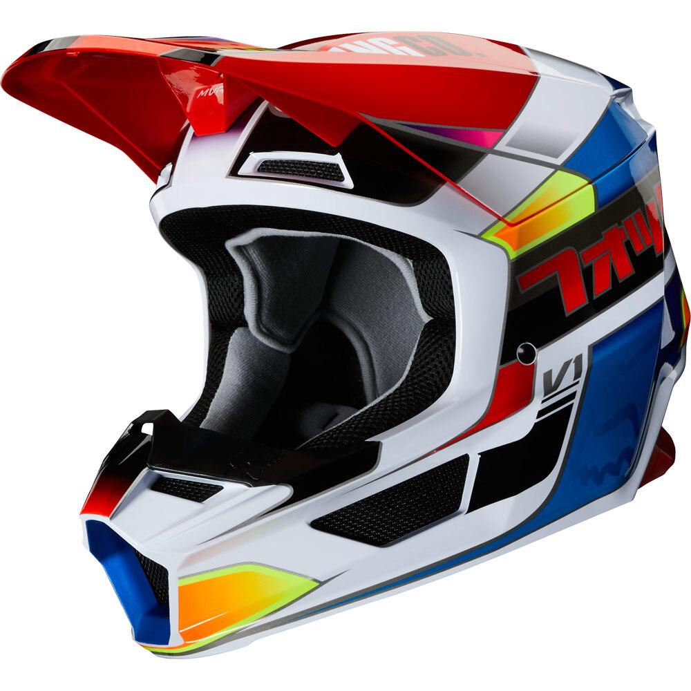 Fox - 2020 V1 Yorr Youth Blue/Red шлем подростковый, сине-красный