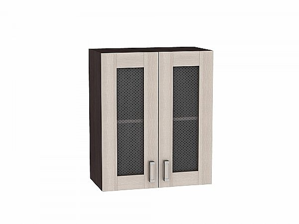 Шкаф верхний Лофт В609 со стеклом (Cappuccino Veralinga)