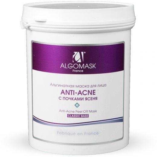 Альгинатная маска anti-acne с почками ясеня/ Anti-acne Peel Off Mask, 200 г